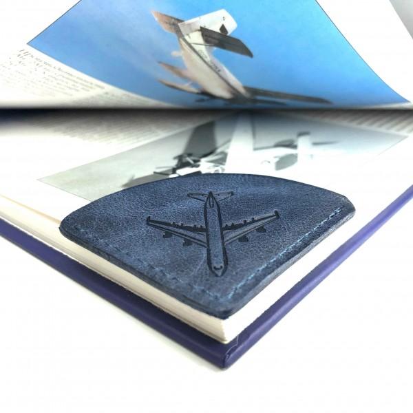 Bookmark Airplane Blue