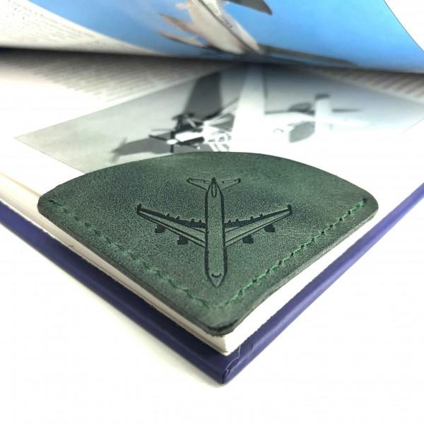 Bookmark Airplane Green