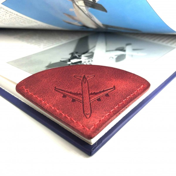 Bookmark Airplane Red