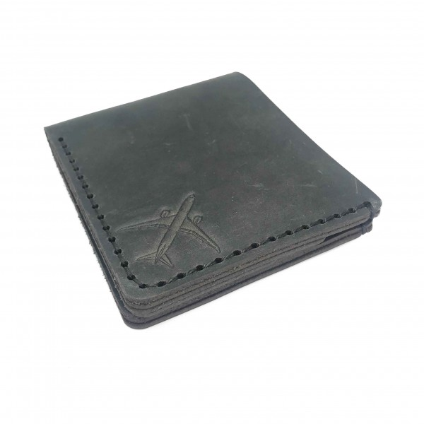 Wallet Face Airplane Gray