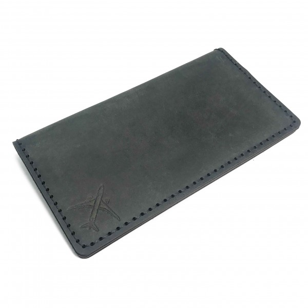 Wallet Big Airplane Gray