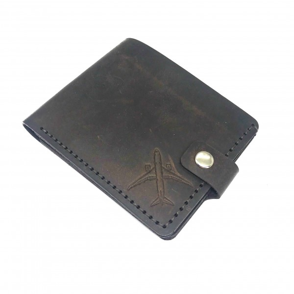 Wallet Airplane Brown