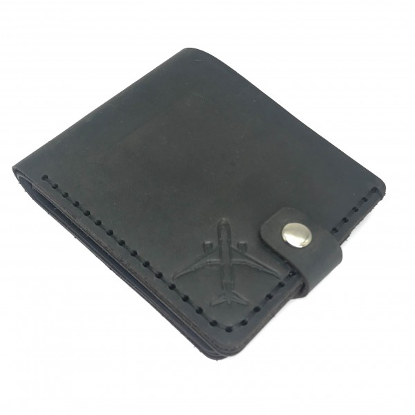 Wallet Airplane Pocket Gray