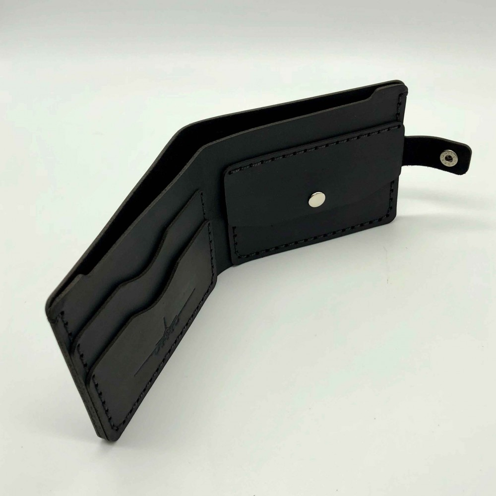 Wallet Silver Airplane Black