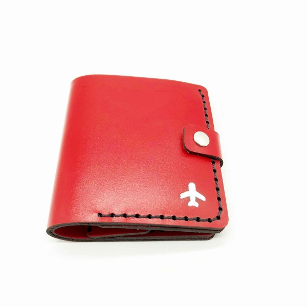 Wallet Silver Airplane Red