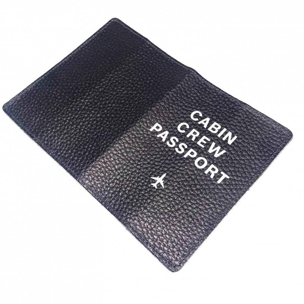 Passport Cover Cabin Crew Black