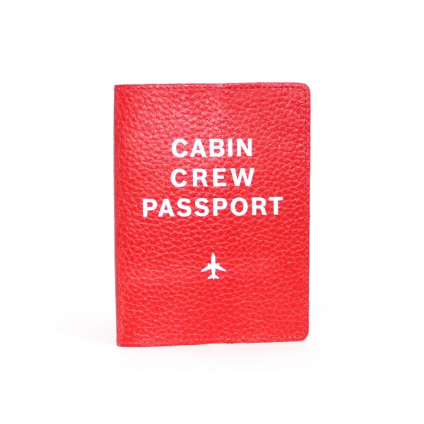 Passport Cover Cabin Crew Red