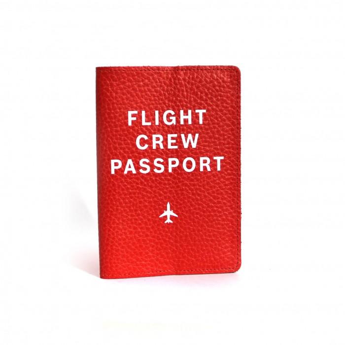 Passport Cover Flight Crew Red