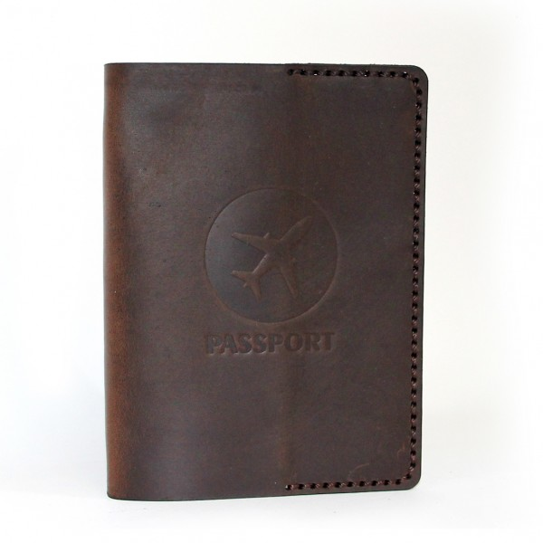Passport Cover Brown Airplane