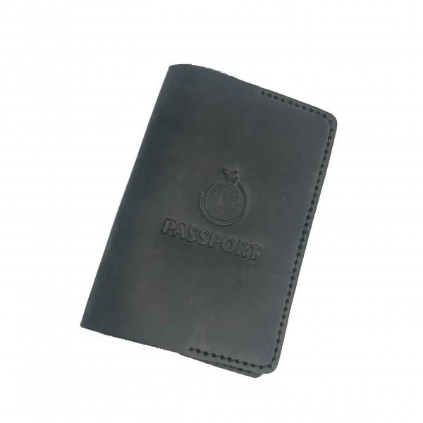 Passport Cover Gray Globe