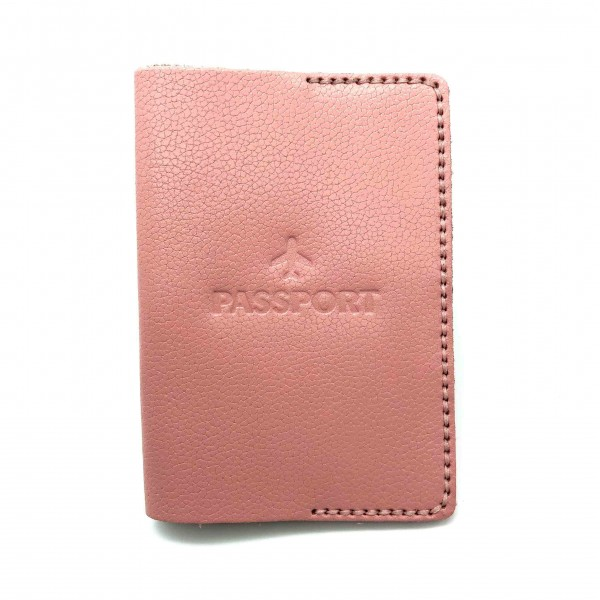 Passport Cover Pink Small Airplane