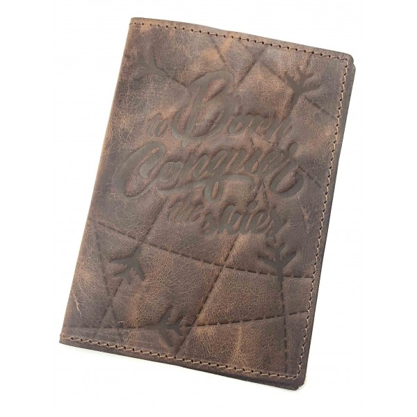 Passport Cover The Skies Brown