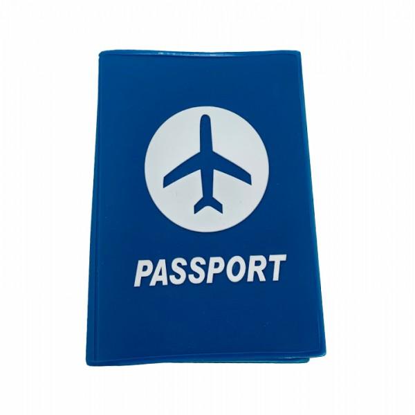 Passport cover blue