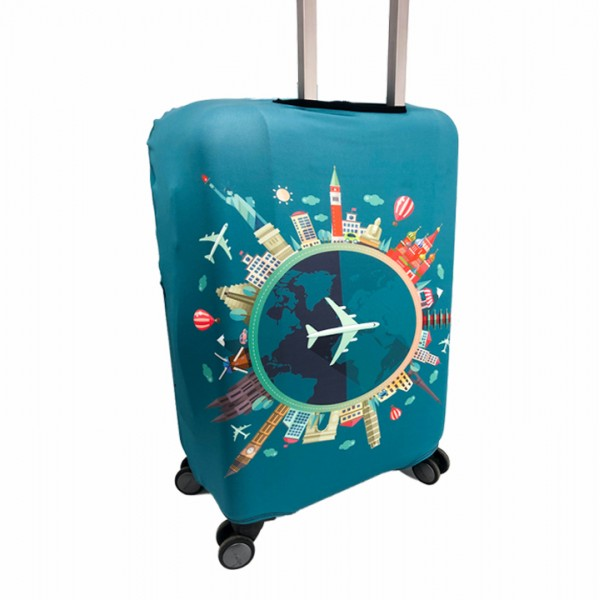 """Cover on the suitcase """"Around The World"""""""