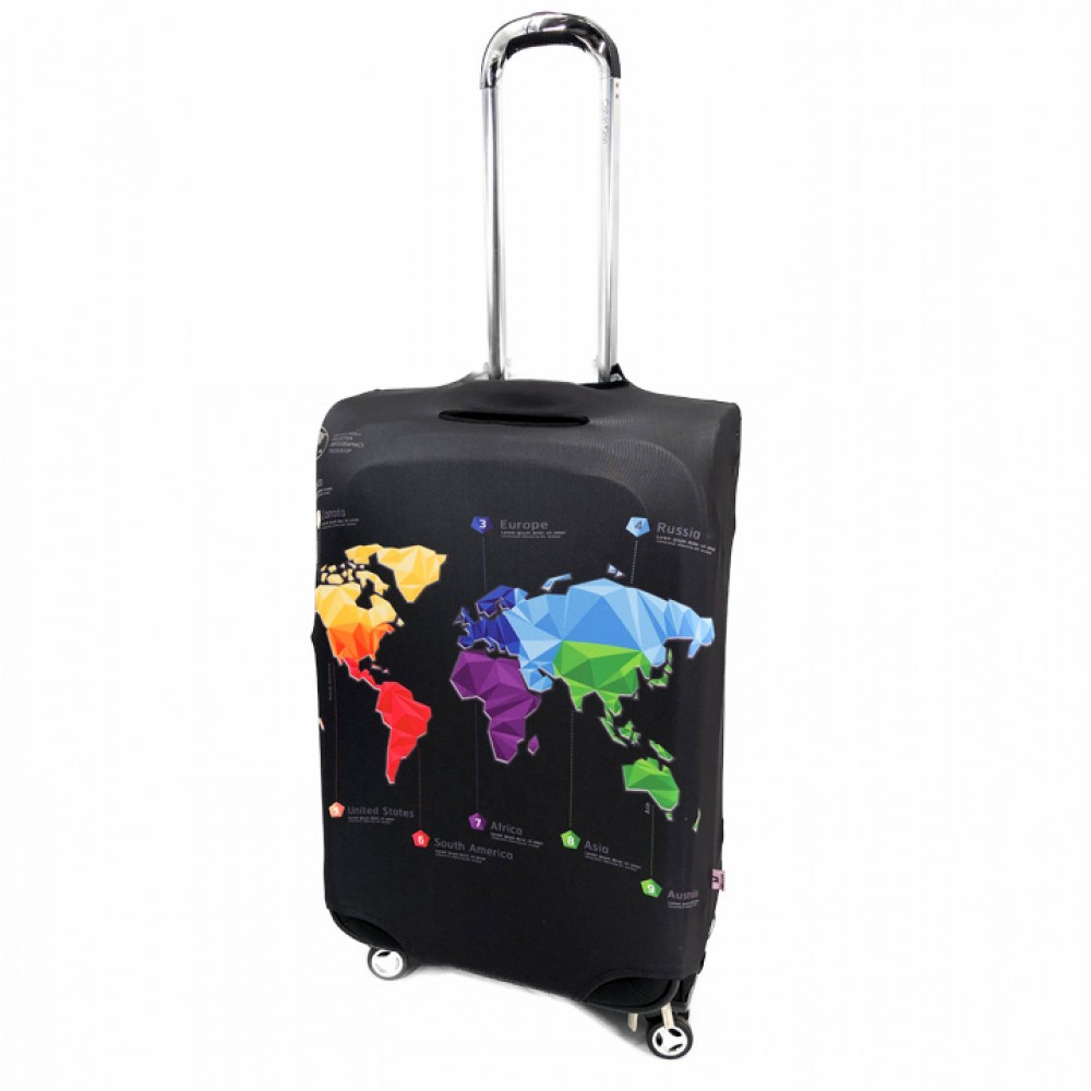 """Cover on the suitcase """"World Map"""""""