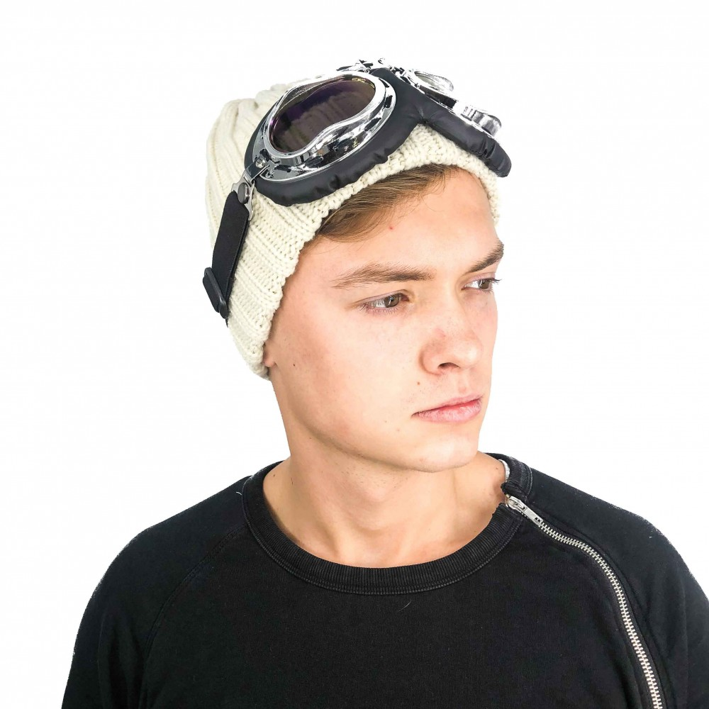 Hat Aviator Unisex Cream