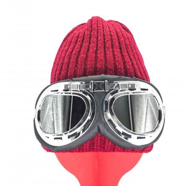 Hat Aviator Unisex Crimson