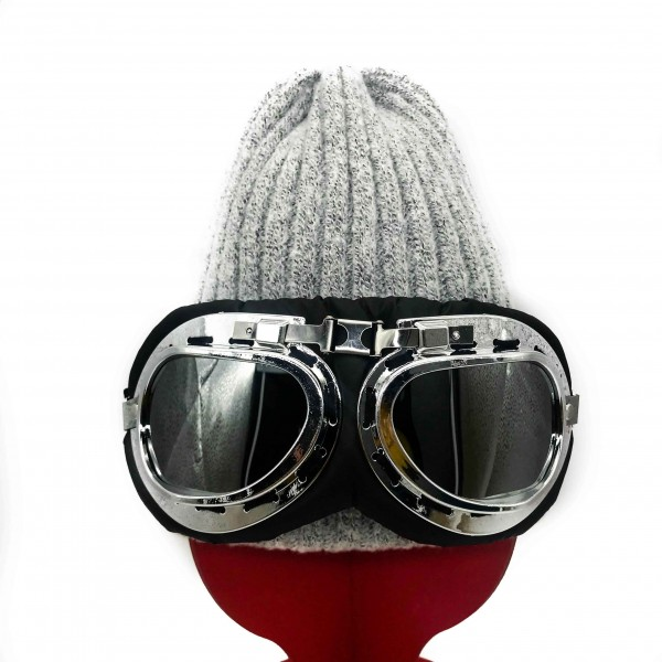 Hat Aviator Unisex Light Gray
