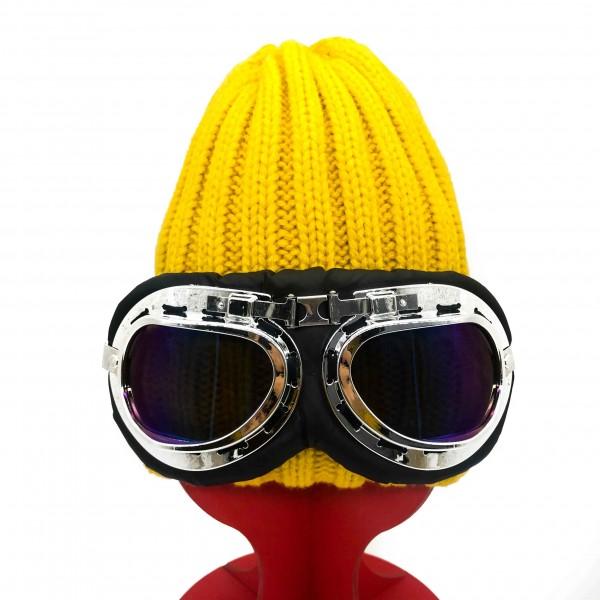 Hat Aviator Unisex Yellow