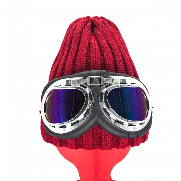 Hat Aviator Unisex Red