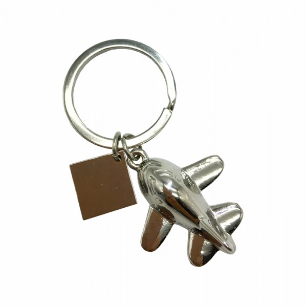 Keychain Classic airplane with a clip