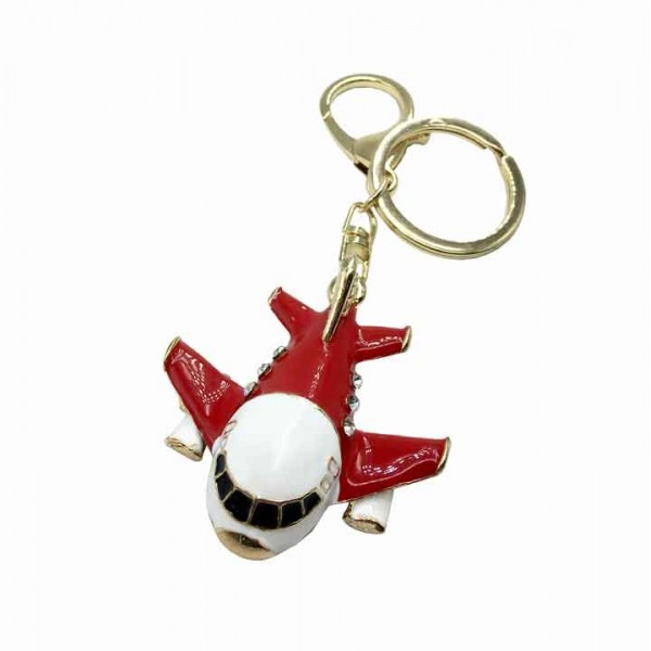 Keychain Airplane A-380 Red