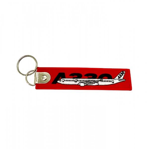 Keychain Airbus A330 bulk embroidery