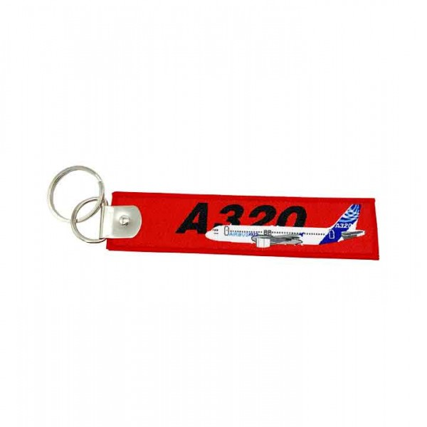 Keychain Airbus A320 woven