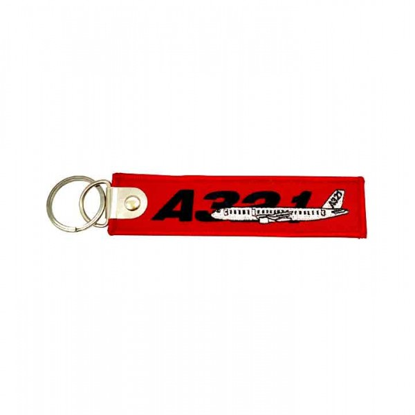 Keychain Airbus A321 bulk embroidery