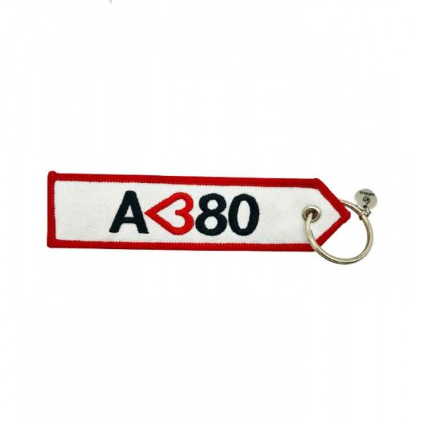 Keychain A<380 with double sided inscription