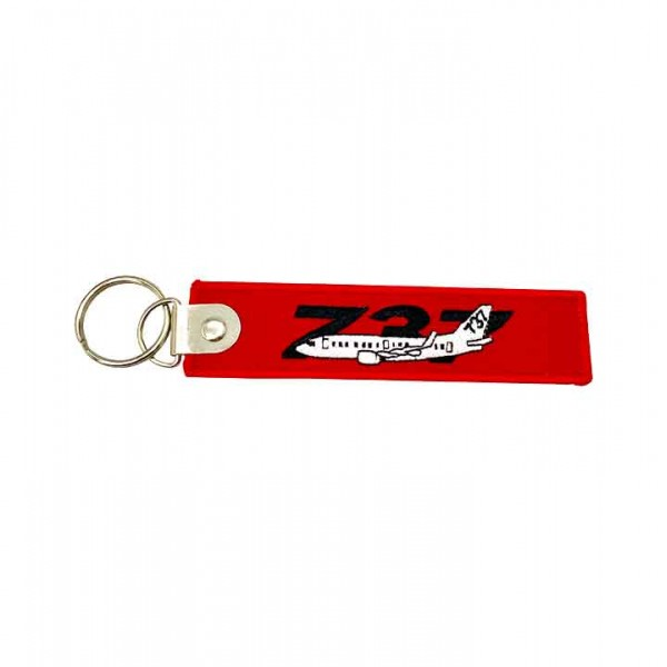 Keychain Boeing 737 with double sided inscription