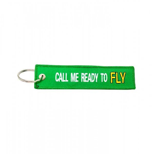 Keychain Call Me Ready To FLY green
