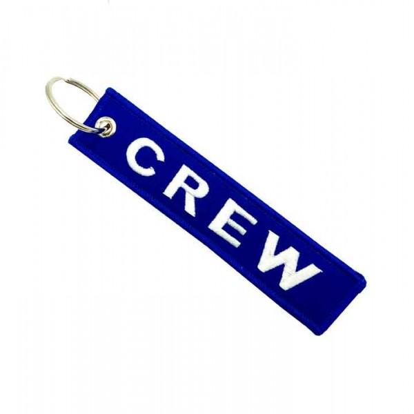Keychain Crew Blue Rectangular