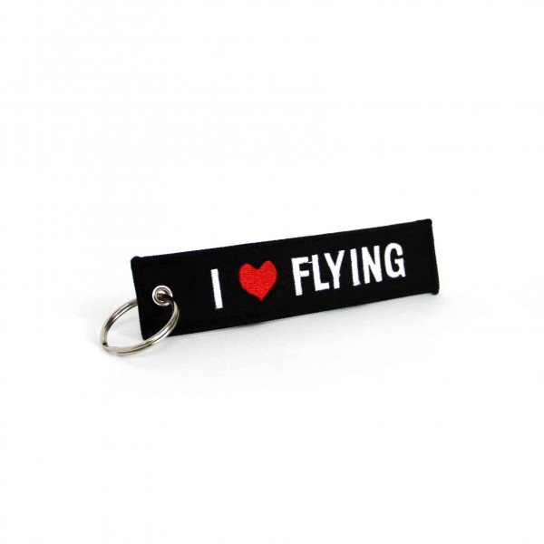 Keychain I Love Flying Black