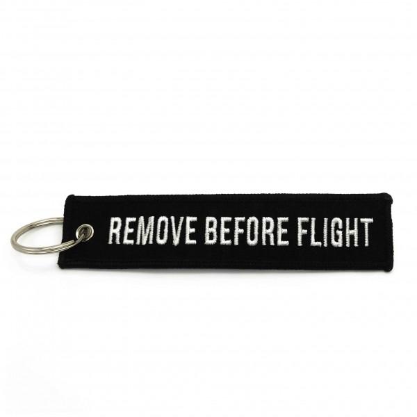 Keychain Remove Before Flight Black