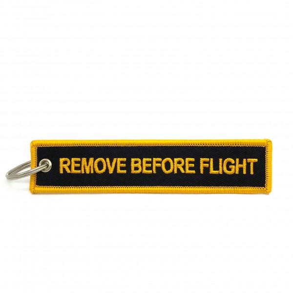 Keychain Remove Before Flight Black&Yellow