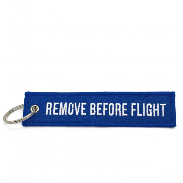 Keychain Remove Before Flight Blue