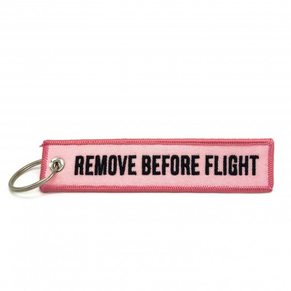 Keychain Remove Before Flight Pink
