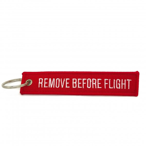 Keychain Remove Before Flight Red