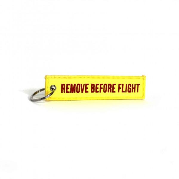 Keychain Remove Before Flight Yellow