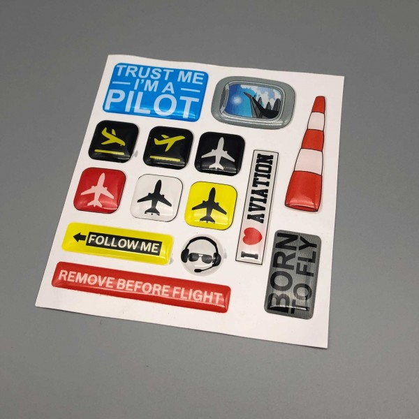 "Sticker Pack ""Trust me I'm a Pilot"""