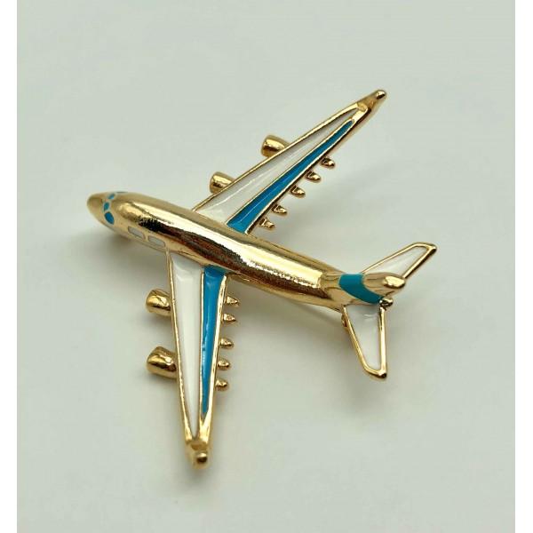 Brooch Boeing Blue