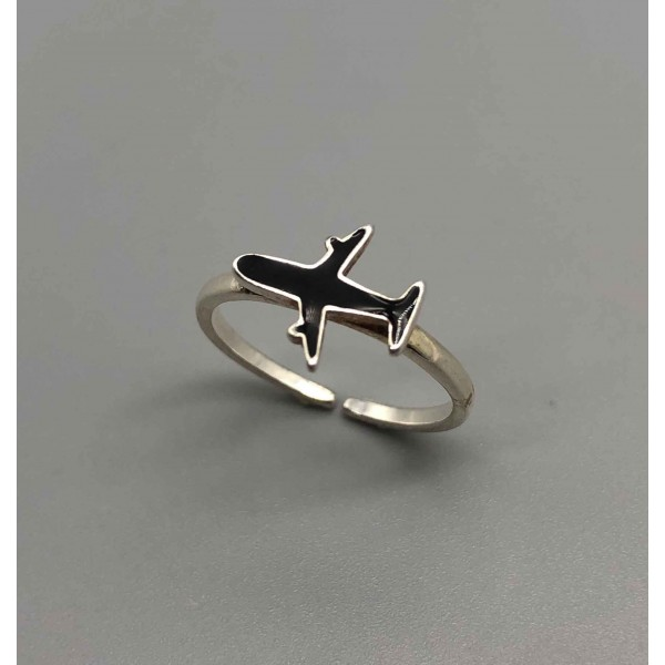 Ring Black Airplane