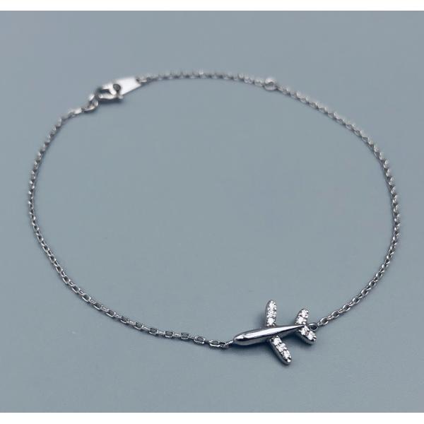 Silver Bracelet Luxury Airplane