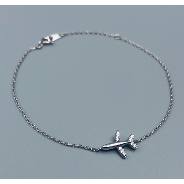 Silver Bracelet Luxury Airplane