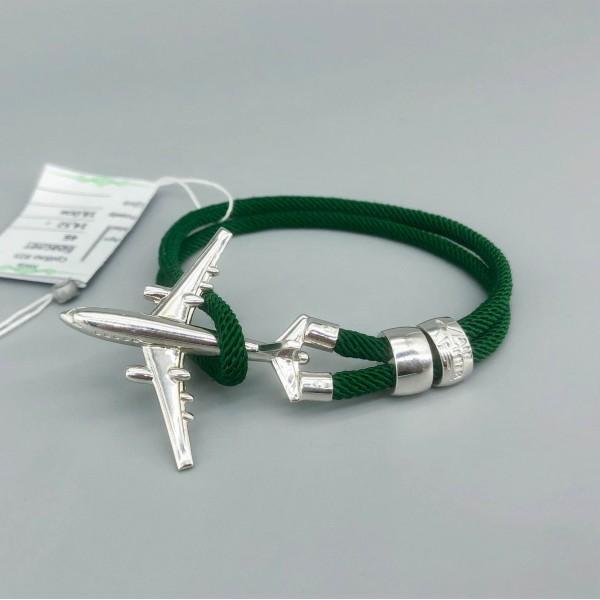 Bracelet Silver Plane Green