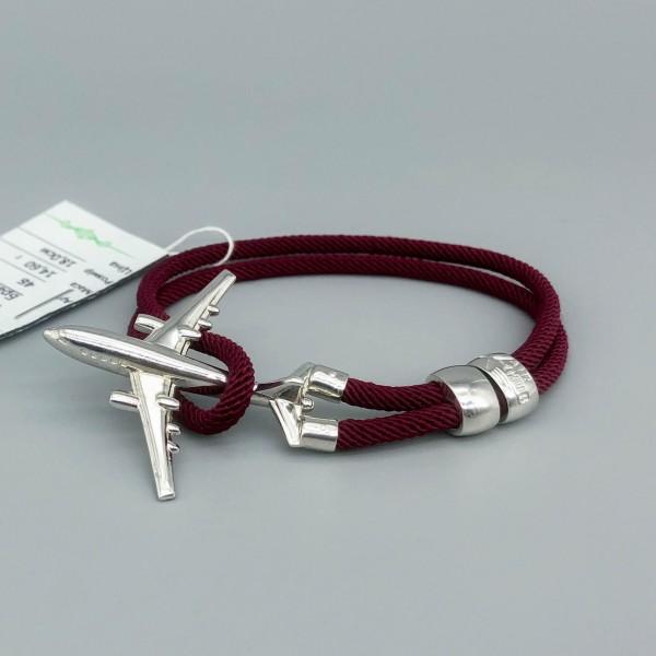 Bracelet Silver Plane Red