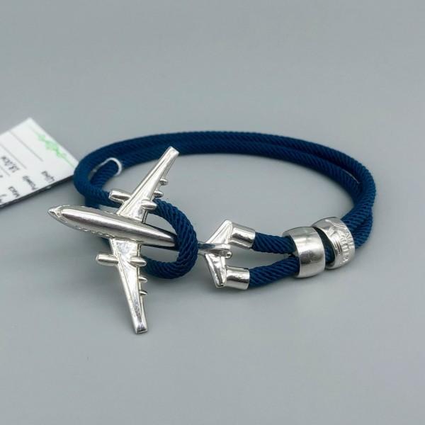 Bracelet Silver Plane Blue