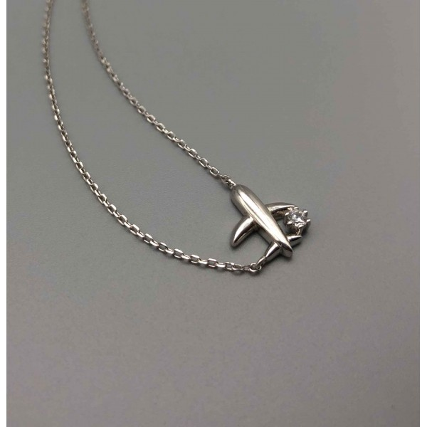 Necklace Silver Like