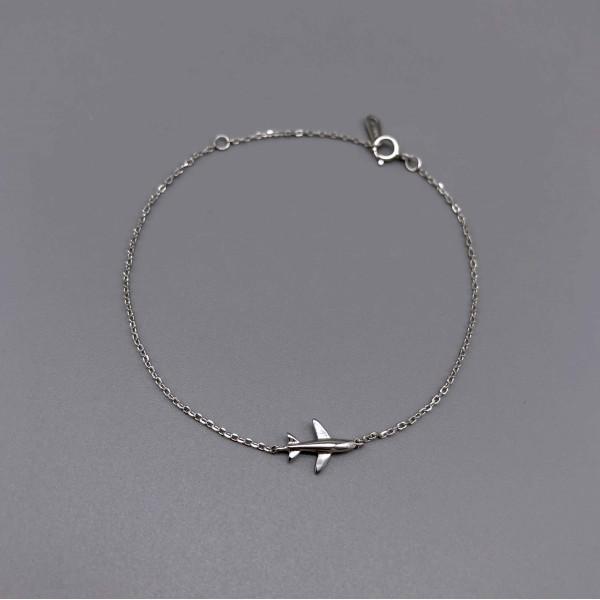 Silver Bracelet Little Airplane